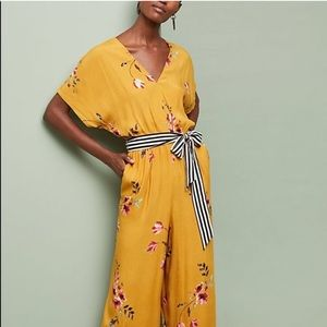 NWT Anthropologie CoreyLynnCalter floral jumpsuit